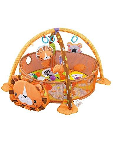 Konig Kids - Gimnasio de actividades para bebés 3 en 1 para jugar feliz y aprender divirtiéndose Talla:Lion...