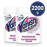 Vanish Oxi Action Powerweiss Fleckenentferner Pulver für weiße Wäsche, Fleckentferner ohne Chlor, 2,2 kg Pulver, (2 x 1,1 kg)