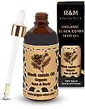 Olio di cumino nero R&M Beauty- Oleo - Olio di cumino nero Premium olio di cumino nero organico pressato a freddo per il viso e il corpo - per una pelle più bella e un viso puro - 100 ml