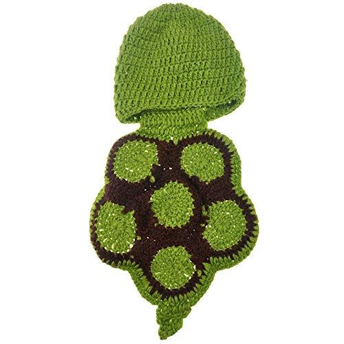 Uooker Fashion Baby Neugeborene Handarbeit gehäkelte Schildkröte Kostüm Fotografie Requisite 0-6 Monate (Niedliche Baby Schildkröte Kostüm)