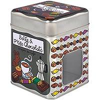 Derrière la Porte Caja Metal Con Ventana Chocolate Ptit