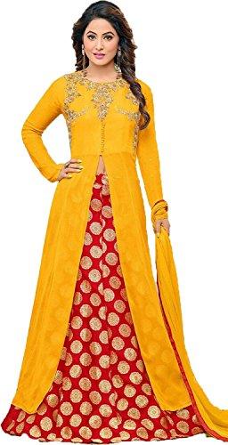 Clothfab Women Georgette Heavy Embroidery Work Great Indian Festival Sale Pary Wear...