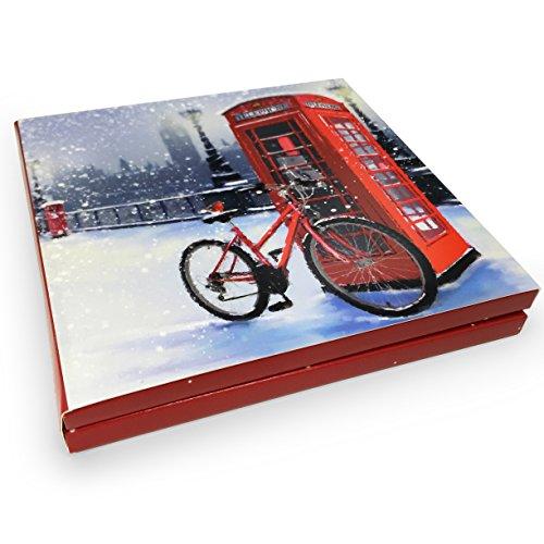 Christmas cards–londra post–12,4x 12,4cm–confezione di 10carte–2design–paper house–wxp 0078