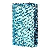 Brilcon Paillettes ordinateur portable bloc-notes Paillettes Agenda mémos Creative papeterie Fournitures de bureau papeterie 9* 14.5cm 78Feuilles Bleu acide