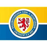 Eintracht Braunschweig Targa in metallo 20x 30cm Croce
