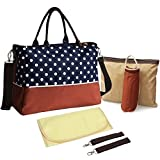 KF Baby Luv Diaper Bag Value Set, with Crossbody bag strap, Stroller hooks