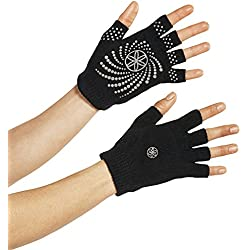 Gaiam Grippy Yoga Gloves, Negro/Gris, Talla Única