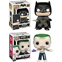Funko POP! Batman + The Joker - Batman Vs. Superman And Suicide Squad Vinyl Figure Set NEW