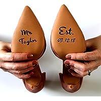 Wedding Shoe Sticker Mrs Decal Removable Vinyl Bride Gift