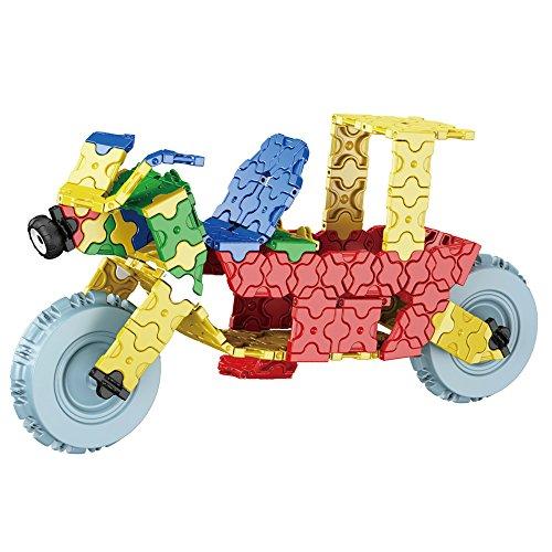 TurnRaise Juguetes Hechos a Mano Juego de Bloques de Construcción Modelo Automotriz Juegos de Puzzle (Motos)