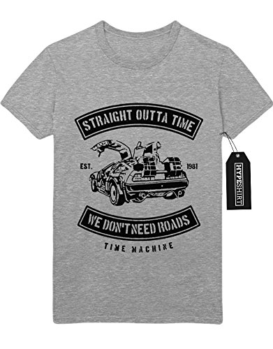 """T-Shirt Back to Future """"STRAIGHT OUTTA TIME"""" H23175 Grau"""