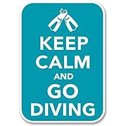 2x 10cm Scuba Diver Sticker en vinyle pour ordinateur portable Fun Club de Plongée PADI Dive # 6278 - 7cm Wide x 10cm Tall