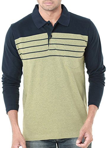 Wexford Men's Cotton Polo Neck Full Sleeves Casual T-Shirt