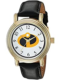 Disney Women's 'Incredibles 2' Quartz Metal Casual Watch, Color Black (Model: WDS000583)