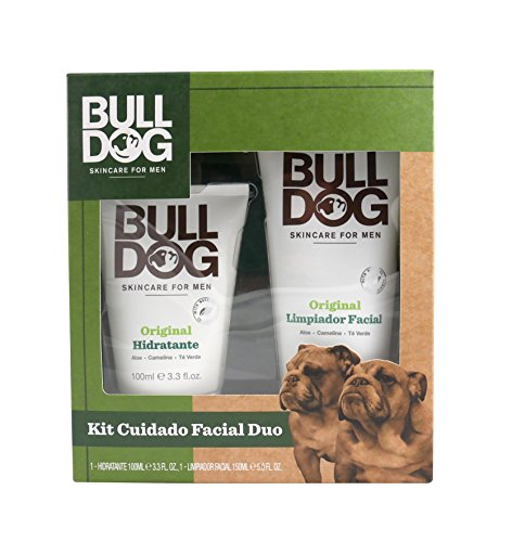 Bulldog Skincare for Men Pack - Set Cuidado Facial Duo, Limpiador 150ml + Crema Hidratante 100ml