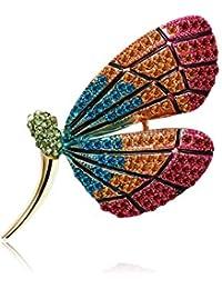 LUREME Rhinestones Vintage Broche de Cactus Cristalino para Mujeres y Niñas (br000103)