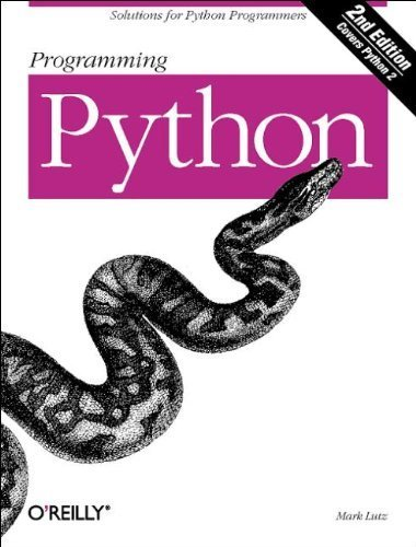 Programming Python, Second Edition with CD by Mark Lutz (2001-03-11)