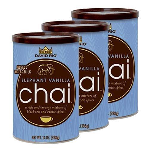 3 Dosen David Rio Elephant Vanilla Chai Latte Tee 398g