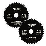 TopsTools - CS8544T_2-Sägeblatt aus Schnellarbeitsstahl, 44Zähne/Zoll, 85 mm Durchmesser und 15mm Montierlochdurchmesser, 2 Stück