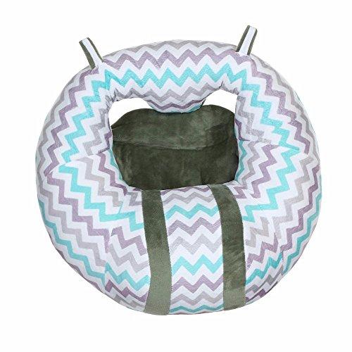 Kindermöbel U geformte Stuhl Sitz ,KIMODO Krankenpflege Kissen U geformte Kuschel Baby Sitz Kinder Säugling Safe Esszimmer Stuhl Kissen Neu (Grau)