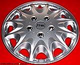 J-Tec 4 Radkappen für FIAT Ducato/Hymer/Peugeot/Citroen in15 Silber metallic