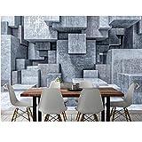 Yzybz Estéreo 3D Brick Stone Wallpaper 3D Mural De Pared Para Paredes Sala De Estar Pintura De Pared Acuarela Gris Geométrico Piedra Papel De Pared-480 * 290cm