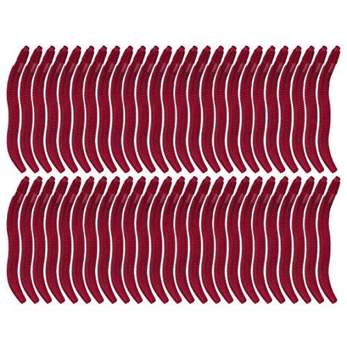 VIGE 50 stück 3,5 cm weiche Simulation Regenwurm Würmer Künstliche Fischköder Tackle Weichen Köder Lebensechte Fischgeruch Lockt Rot
