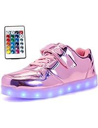 Dragon868 Scarpe bambini con LED, Sportivo Scarpine Bambino Ragazzi e Ragazza Sneaker Traspirante 1'6 Anni (21, Rosa)