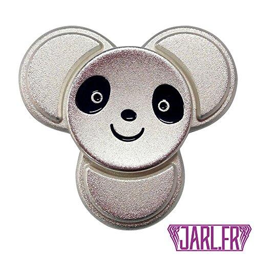 Spinning top - Panda - Juguete - Fabricado en metal - Cumple con las normas europeas - Entrega rápida (Silver)