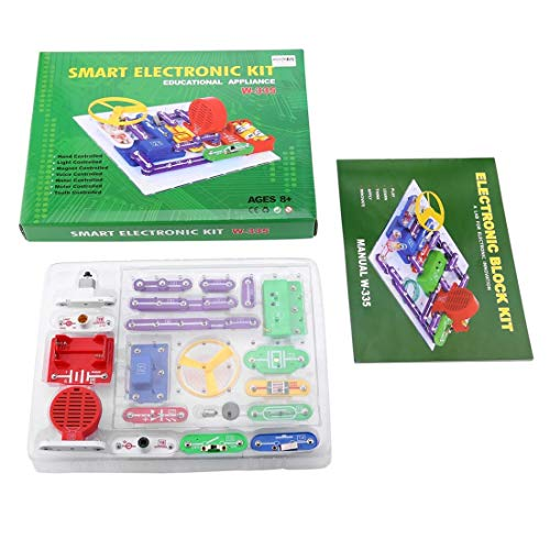 335 Kit de découverte électronique multicolore Smart Electronics Block Kit Kit de science de l'éducation Toy Best DIY jouets pour enfants