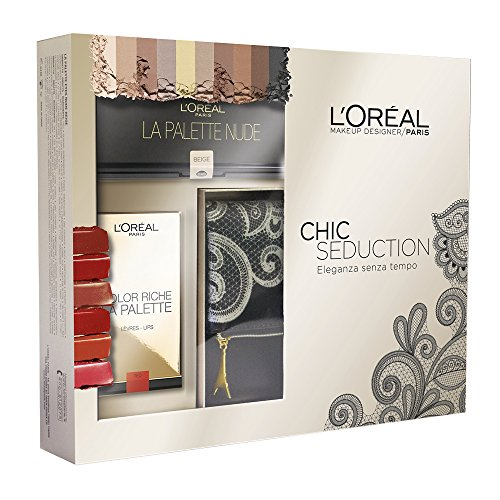L'Oréal Make Up Designer Paris Cofanetto Natale Chic Seduction: pochette + palette Ombrèe + palette (Palette Designer)