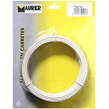 Maurer 1010087 - Alambre plastificado de 1,2 mm (rollo 50 metros), color blanca