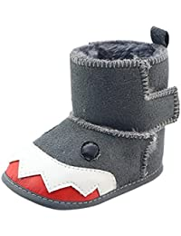 Chaussures de Sport Longra Unisexe Filles Garçons Couleur unie Doux Soles  hiver Chaussures Antidérapant Requin Animal cbab8174e4b8