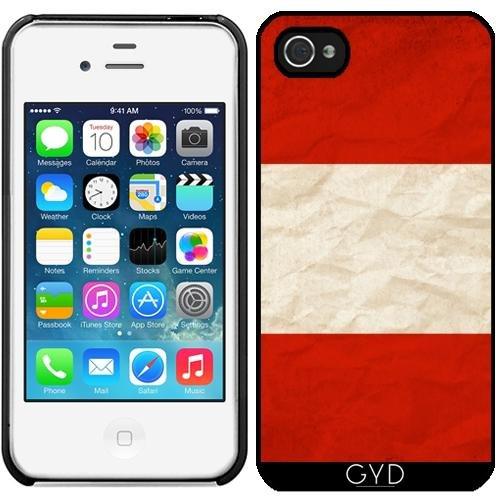 Leder Flip Case Tasche Hülle für Apple iPhone 5/5S - Österreich Flagge Europa Wien by WonderfulDreamPicture Starre Kunststoff