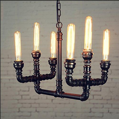Bronze-kronleuchter 21-licht (MOMO Loft Eisen Vintage Antike Industrielle Rohr Kronleuchter Kreative Cafe Bar Lampe Lichter 400 * 300 Mm,B)