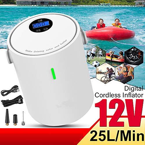 HRRH Compresor de Aire portátil, 12V 150PSI USB Bomba Inflable de Mano para Motocicletas automáticas...