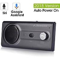 2018 Avantree NEU Kfz Bluetooth Freisprechanlage Visier Auto Kit mit Siri, Google Assistant Sprachsteuerung, Auto Power On Wireless In Car Freisprecheinrichtung, 2W kraftvoller Lautsprecher, Unterstützt GPS, Musik, Anrufe