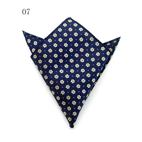 ZJM Mouchoir Pocket Square Premium Satin mouchoir 15 couleurs à choisir carrée Hanky ( Couleur : #15 ) #07