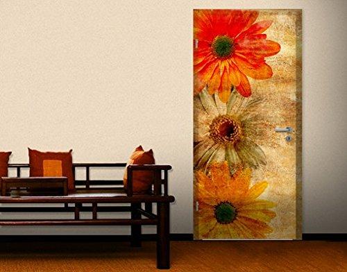carta-da-parati-adesiva-per-porte-vintage-flowermix-grossel-106x221cmgrosse0cm-x-0cm