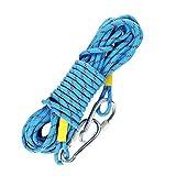 WINOMO Kletterseil Geflochtenes Seil mit Schnalle und Karabiner 2 M