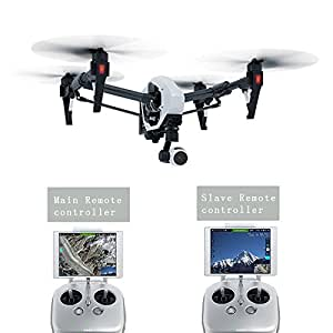 DroneFly Original DJI T600 Inspire 1 Quadrocopter FPV RC Quadcopter Drone with 4K HD Camera With 3-Axis Gimbal Dual Transmitters /// Color :: Black \\\