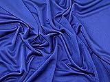 Plain Seide Stretch Jersey Kleid Stoff Meterware, Royal