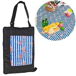 TEQStone Picknickdecke Wasserdicht Waschbar 200 X 150 cm XXL, Stranddecke Outdoordecke für Reisen, Camping, Picknick und…