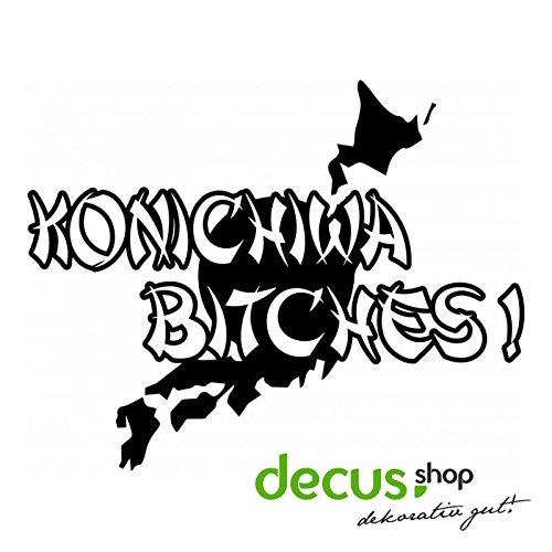 JAPAN KONICHIWA BITCHES L 2048 // Sticker OEM JDM Style Aufkleber (Weiß)