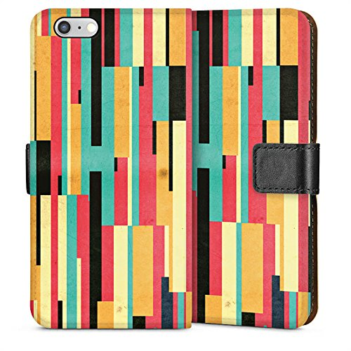 Apple iPhone 4 Housse Étui Silicone Coque Protection Bandes Motif Motif Sideflip Sac