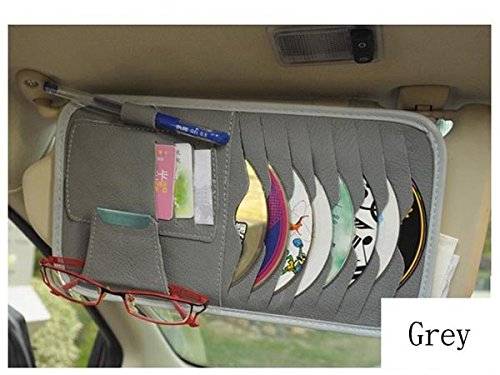 Auto-dvd-halter (System-S CD / DVD Sonnenblenden-Halterung Auto KFZ CD Halter Organizer Aufbewahrung Tasche in Grau)