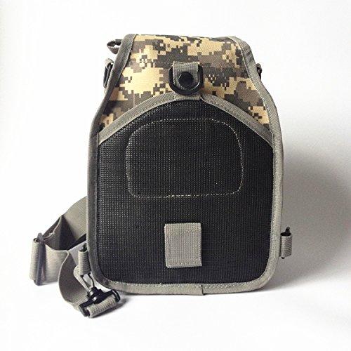 Tactical una borsa a tracolla militare petto Sling borsa a tracolla, zaino per campeggio, escursioni, trekking, viaggi zaino, Sand Camo ACU