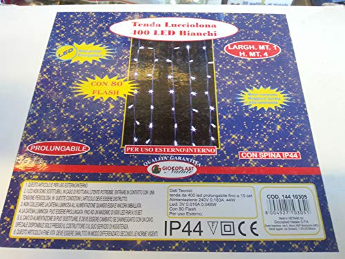 Giocoplast Natale Tile 1000 400 LED Blanc chaud 1 m Multicolore