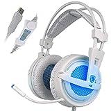 SADES A6 7.1 Surround Sound Stereo Pro PC Gaming Headset Kopfhörer mit Bügel mit hoher...