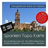 Spanien Garmin Karte TOPO 4 GB microSD. Topografische GPS Freizeitkarte für Fahrrad Wandern Touren Trekking Geocaching & Outdoor. Navigationsgeräte